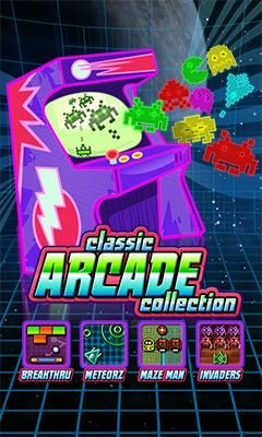 4-in-1 Classic arcade collection 240x400 java game free