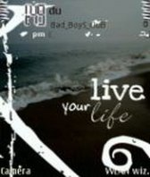 live clock Nokia E71 themes free download : Dertz