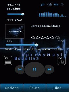 Music Player Nokia 5130 XpressMusic themes free download : Dertz